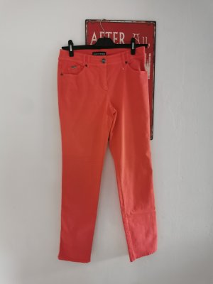 Gerry Weber Drainpipe Trousers bright red cotton
