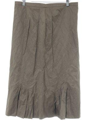 Gerry Weber Plisowana spódnica szaro-brązowy W stylu biznesowym