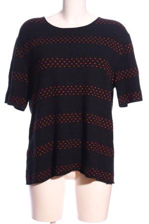 Gerry Weber Sweter z krótkim rękawem czarny-jasny pomarańczowy W stylu casual
