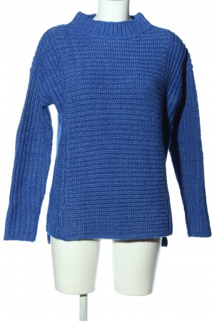 Gerry Weber Szydełkowany sweter niebieski Warkoczowy wzór W stylu casual
