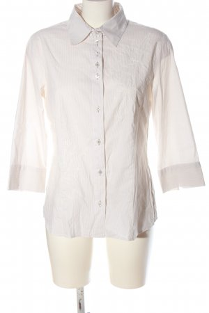 Gerry Weber Shirt Blouse natural white-brown striped pattern business style