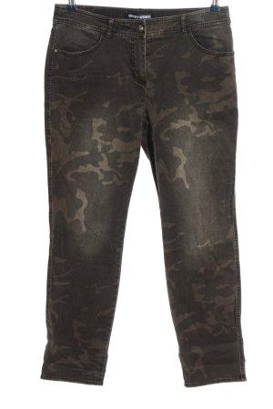 Gerry Weber High Waist Jeans hellgrau-creme Camouflagemuster Casual-Look