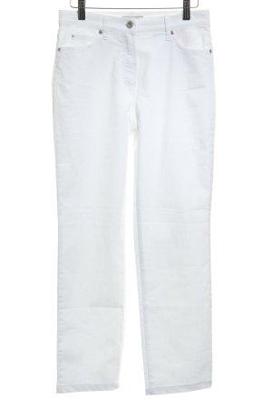 Gerry Weber Hoge taille jeans wit-zilver minimalistische stijl