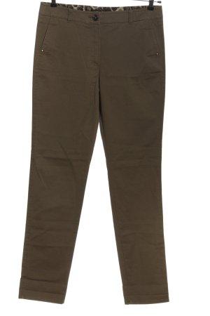 Gerry Weber pantalón de cintura baja color bronce estampado a rayas look casual