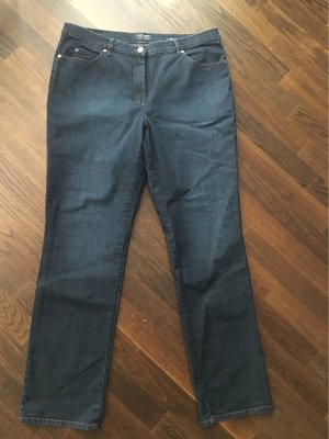 Gerry Weber Jeans cigarette bleu foncé tissu mixte