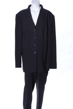 Gerry Weber Kostüm schwarz Streifenmuster Business-Look