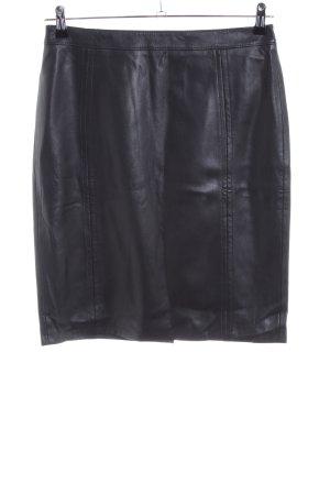 Gerry Weber Rok van imitatieleder zwart zakelijke stijl