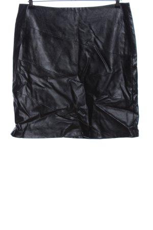 Gerry Weber Falda de cuero de imitación negro elegante