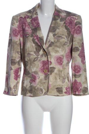 Gerry Weber Kurz-Blazer khaki-pink Allover-Druck Casual-Look