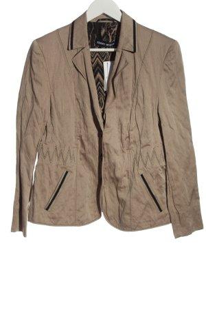 Gerry Weber Korte blazer bruin casual uitstraling