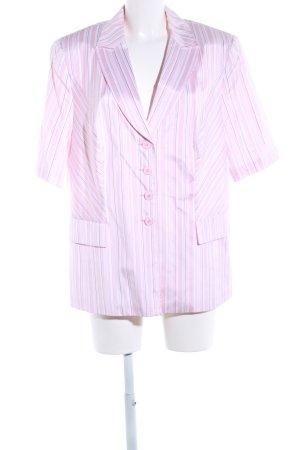 Gerry Weber Kurz-Blazer pink-weiß Streifenmuster Casual-Look
