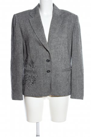Gerry Weber Kurz-Blazer hellgrau Allover-Druck Business-Look