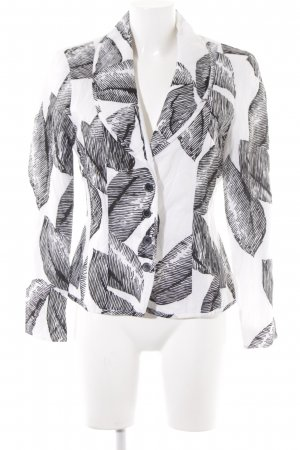 Gerry Weber Kurz-Blazer schwarz-weiß florales Muster Casual-Look