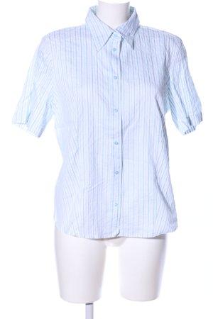 Gerry Weber Kurzarmhemd weiß-blau Streifenmuster Casual-Look