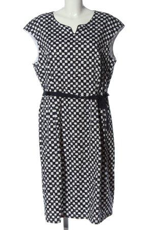 Gerry Weber Shortsleeve Dress black-white abstract pattern elegant