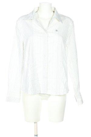Gerry Weber Shirt met lange mouwen wit-lichtgrijs gestreept patroon