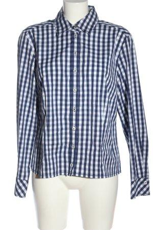 Gerry Weber Langarmhemd weiß-blau Karomuster Casual-Look