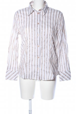 Gerry Weber Camicia a maniche lunghe bianco-oro motivo a righe stile casual