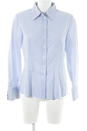 Gerry Weber Langarmhemd weiß-kornblumenblau Streifenmuster Business-Look