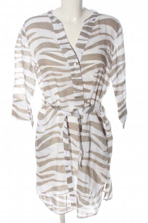 Gerry Weber Longsleeve Dress white-light grey abstract pattern elegant
