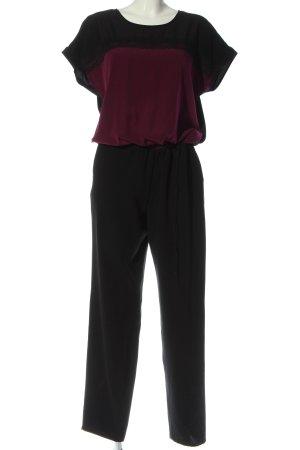 Gerry Weber Langer Jumpsuit schwarz-rot Casual-Look