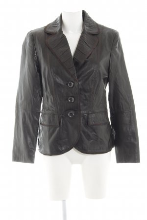 Gerry Weber Leather Blazer brown casual look
