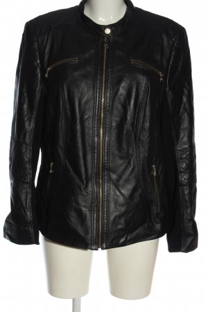 Gerry Weber Leather Jacket black casual look