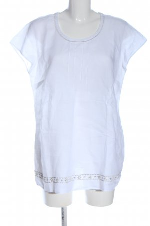 Gerry Weber Linen Blouse white-silver-colored casual look