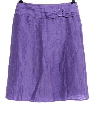 Gerry Weber Falda de lino lila look casual