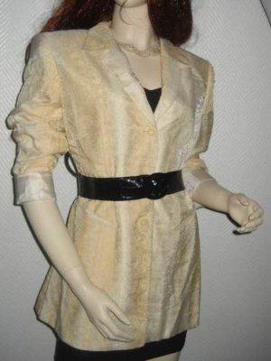 Gerry Weber Long Blazer Jacke Farbverlauf Ombre creme beige 34 36 38 XS S M Neu