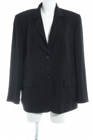 Gerry Weber Long-Blazer schwarz-weiß Streifenmuster Business-Look