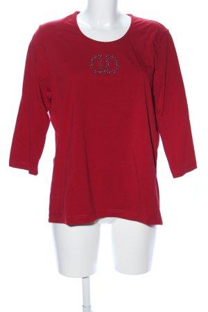 Gerry Weber Lang shirt rood prints met een thema casual uitstraling