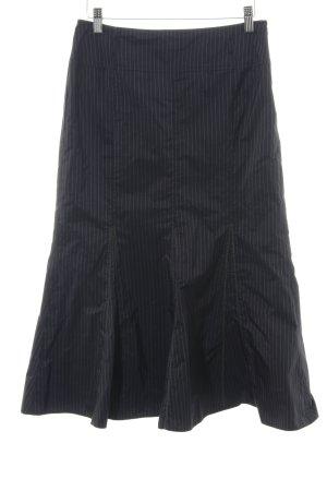 Gerry Weber Spódnica z godetami czarny-biały Wzór w paski Elegancki