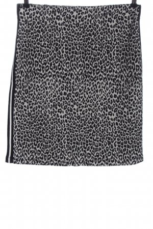 Gerry Weber Stretch Skirt black-natural white animal pattern casual look