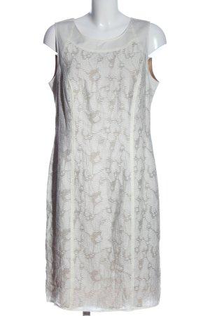 Gerry Weber Minikleid weiß-braun Casual-Look