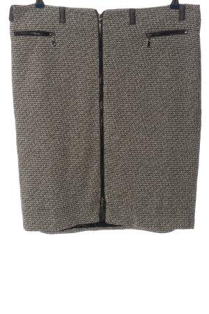 Gerry Weber Mini rok lichtgrijs-zwart gestippeld casual uitstraling