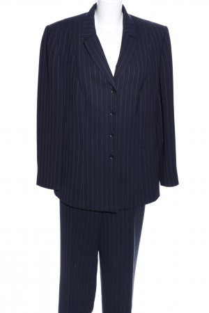 Gerry Weber Pinstripe Suit blue-white striped pattern business style
