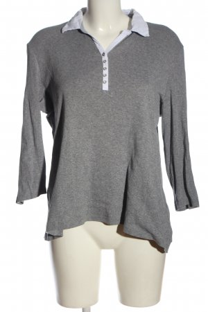 Gerry Weber Camiseta tipo polo gris claro moteado look casual