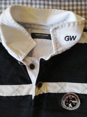 Gerry Weber Polo shirt wit-donkerblauw Katoen