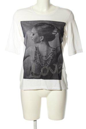 Gerry Weber Print-Shirt weiß-schwarz Motivdruck Casual-Look