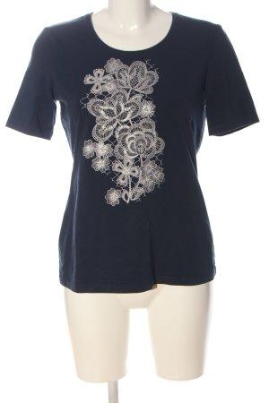 Gerry Weber Print-Shirt blau-wollweiß Blumenmuster Casual-Look