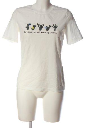 Gerry Weber Print-Shirt weiß-grün Motivdruck Casual-Look