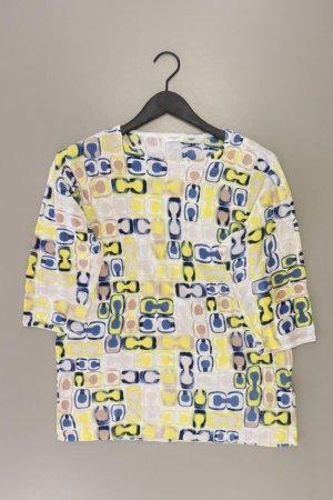 Gerry Weber Printshirt Größe 44 Kurzarm gelb aus Leinen