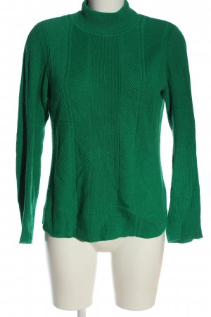 Gerry Weber Turtleneck Sweater green cable stitch casual look