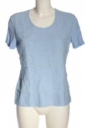 Gerry Weber Ruffled Blouse blue flecked casual look