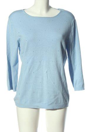 Gerry Weber Rundhalspullover blau Casual-Look