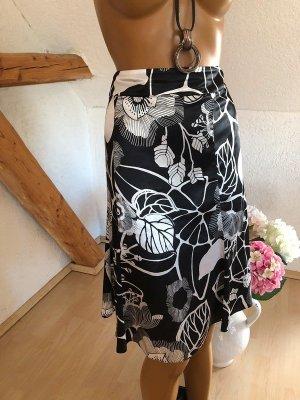 Gerry Weber Silk Skirt black-white