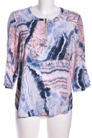 Gerry Weber Schlupf-Bluse blau-pink abstraktes Muster Casual-Look