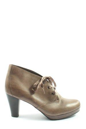 Gerry Weber Sznurowane botki brązowy Nadruk z motywem W stylu casual