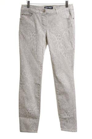 Gerry Weber Slim Jeans beige-wollweiß Leomuster Casual-Look